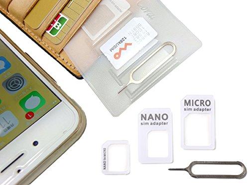 【 紛失防止 クレカより薄い SIM カード ケース ホルダ...