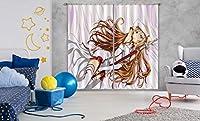 3D ソードアートオンライン 8870 日本のアニメ ブロックアウトフォトカーテンプリントカーテンドレープファブリックウィンドウ| 3Dラージ写真カーテン, AJ WALLPAPER Angelia (360cmx270cm(WxH)【141''x 106''】)