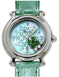 5dbf120aaa ショパール Chopard ハッピースポーツ クローバー ダイヤ レディース 腕時計 ...