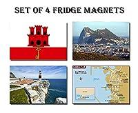 セットの4ジブラルタル冷蔵庫マグネット冷蔵庫マグネット–GibraltarジブラルタルフラグマップジブラルタルAttractions