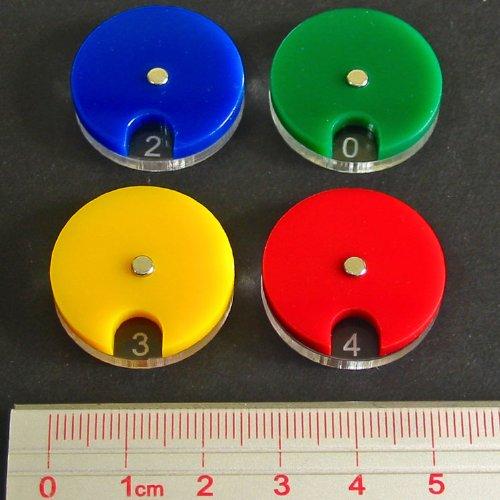 LITKO(リッコー) マルチカラーダイヤル 0-10 ライフカウンター 赤/青/緑/金 4個セット