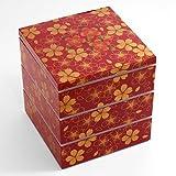 6.5角三段重箱華の舞赤