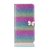 iPhone 7 Plus レザーケース、MrStar 最高級PU レザー 手帳型 軽量 薄型バンパー 保護する 横置きスタンド機能付きiPhone 7 Plus ケース(As Shown)