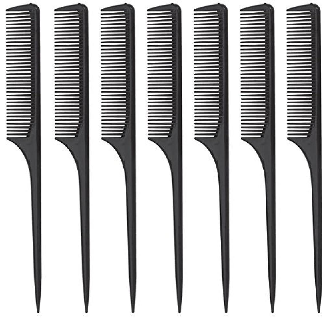 コンデンサーマグロータリーDiane Rat Tail Comb, Black, 9 Inch, 12 Count [並行輸入品]