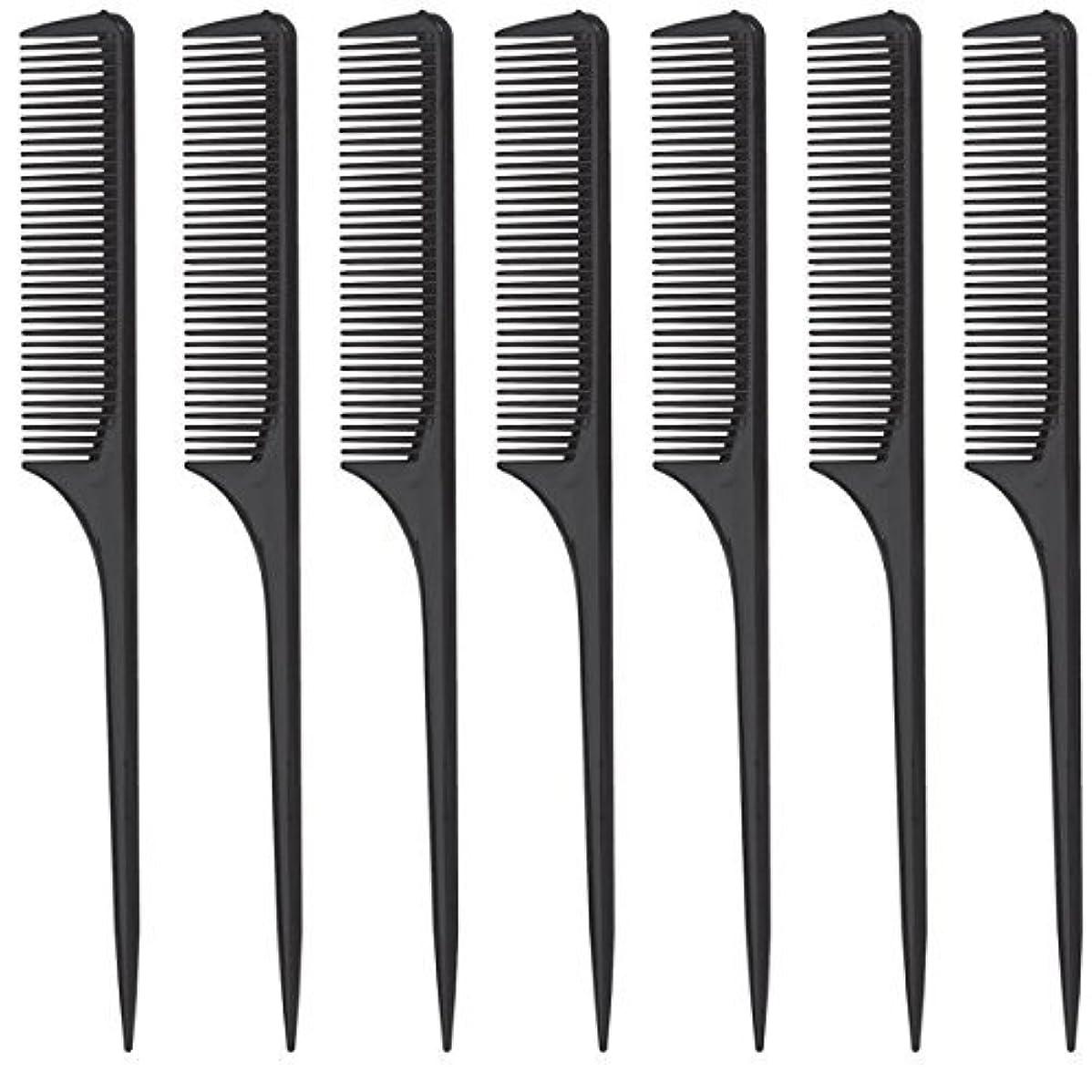 論理ジュラシックパーク逆にDiane Rat Tail Comb, Black, 9 Inch, 12 Count [並行輸入品]