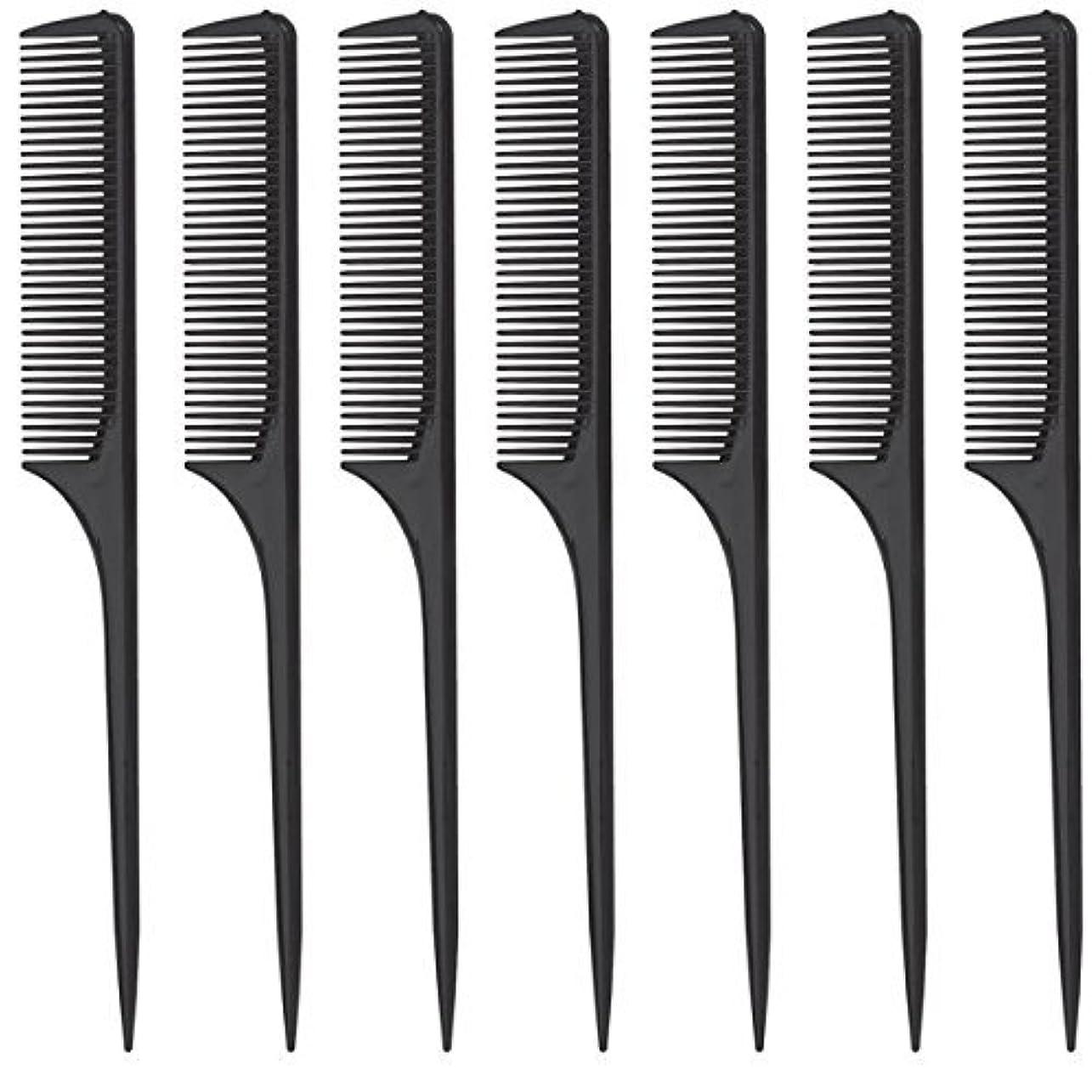 近所の料理をするブランチDiane Rat Tail Comb, Black, 9 Inch, 12 Count [並行輸入品]
