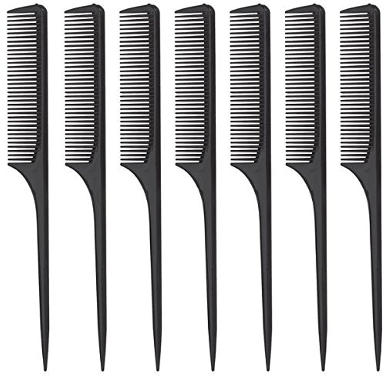 Diane Rat Tail Comb, Black, 9 Inch, 12 Count [並行輸入品]