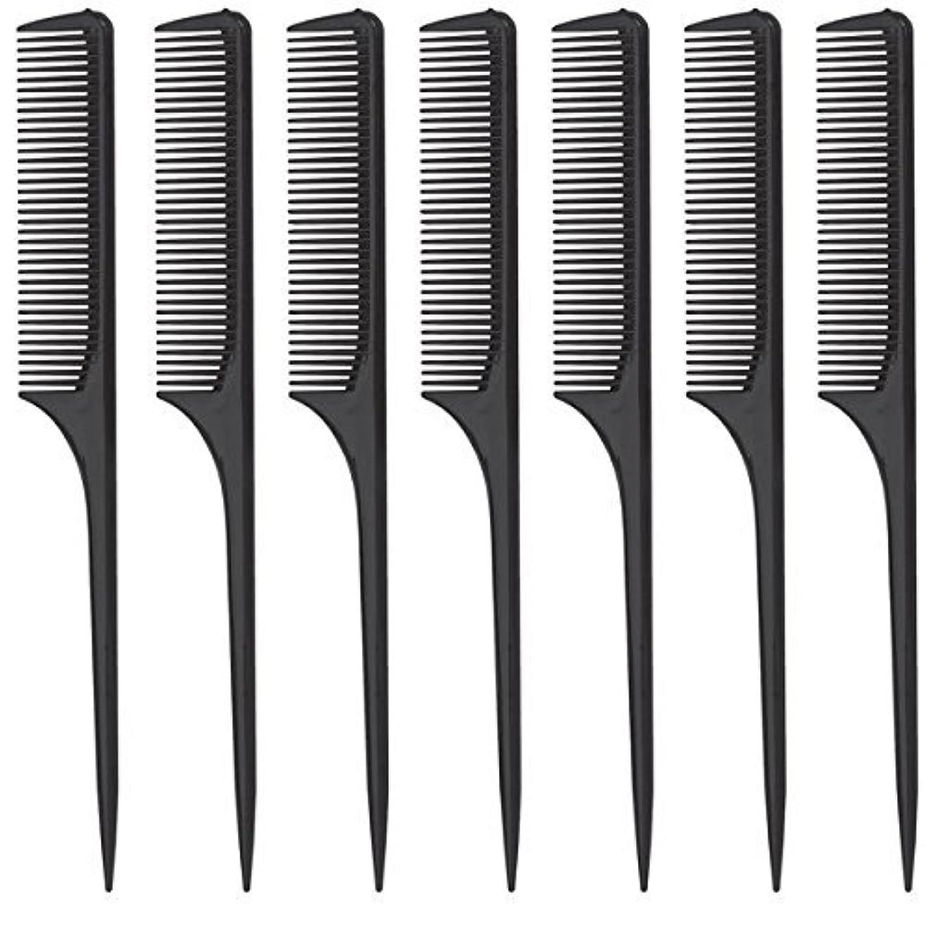 ワットタンザニアDiane Rat Tail Comb, Black, 9 Inch, 12 Count [並行輸入品]