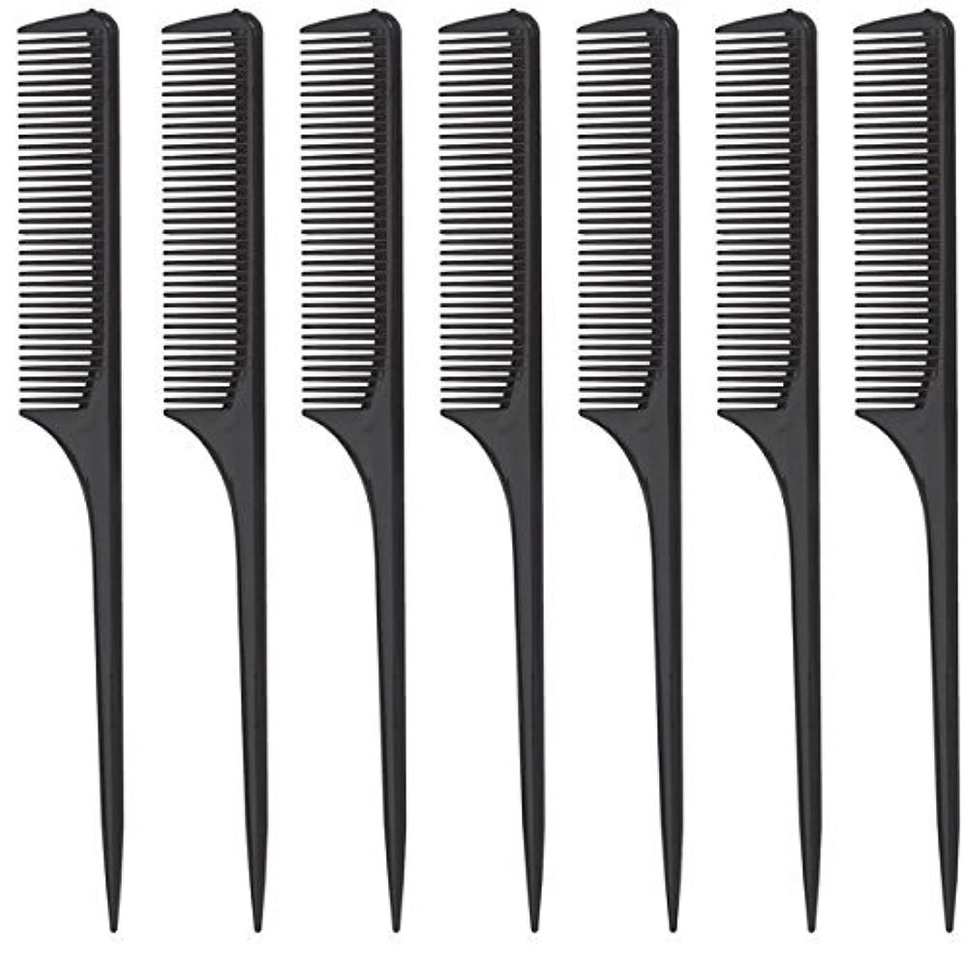 書く適応クローゼットDiane Rat Tail Comb, Black, 9 Inch, 12 Count [並行輸入品]