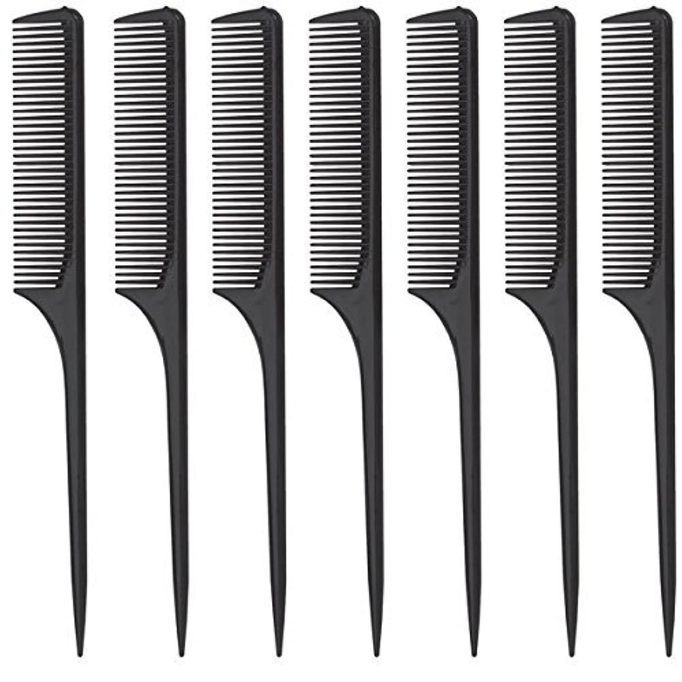 タイプわざわざ仕出しますDiane Rat Tail Comb, Black, 9 Inch, 12 Count [並行輸入品]