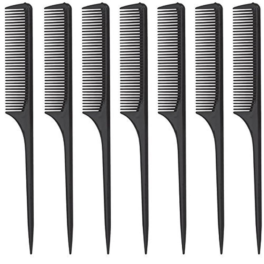 何か信仰アサーDiane Rat Tail Comb, Black, 9 Inch, 12 Count [並行輸入品]