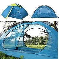 屋外テント 82.6x55x43.3inch 3シーズンハイキングテント大型テントUVサンシェードキャノピー屋外の2人のキャンプテントダブルレイヤー (色 : 青, サイズ : 82.6x55x43.3inch)