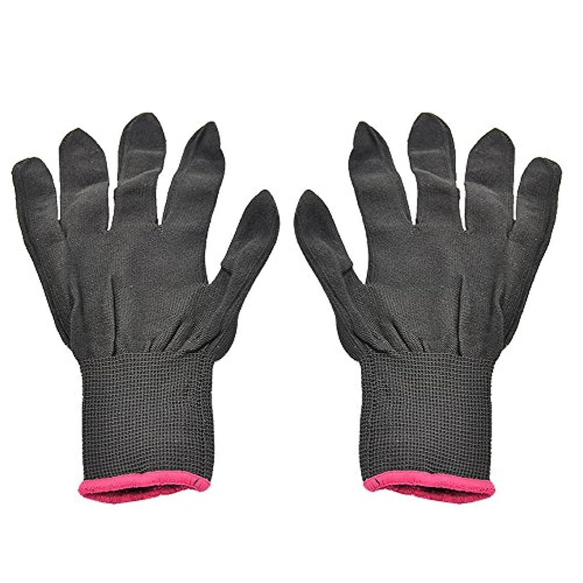 地域加速度眩惑するゴシレ Gosear 1 ペア 男女兼用 熱 抵抗力 美容 耐熱手袋 ため カーリング 平らな鉄 カーリング 杖 髪 スタイリング