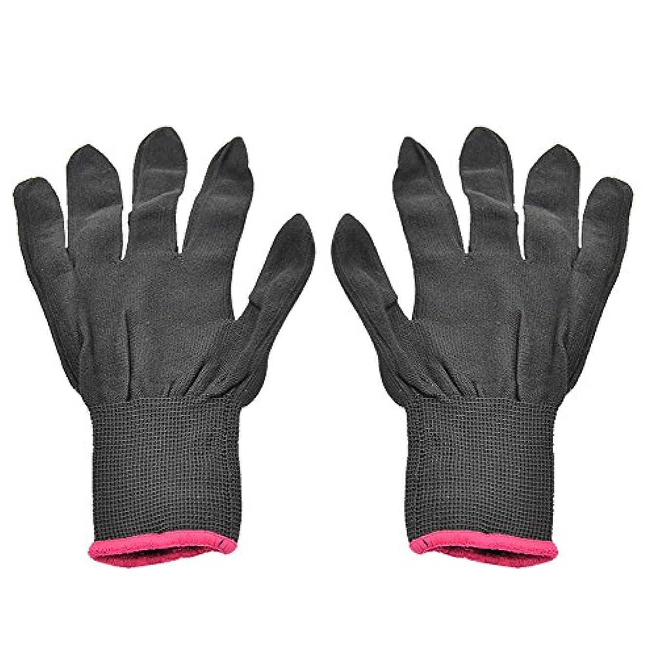 踏みつけ器官ユニークなゴシレ Gosear 1 ペア 男女兼用 熱 抵抗力 美容 耐熱手袋 ため カーリング 平らな鉄 カーリング 杖 髪 スタイリング