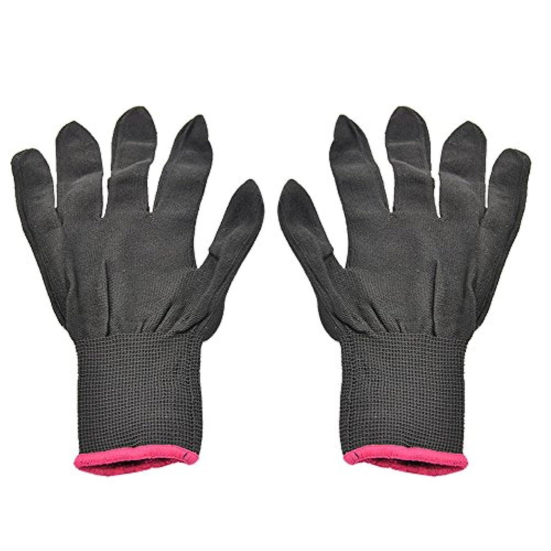 ゴシレ Gosear 1 ペア 男女兼用 熱 抵抗力 美容 耐熱手袋 ため カーリング 平らな鉄 カーリング 杖 髪 スタイリング