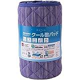 mofua cool 接触冷感素材 アウトラストクール敷パッド (抗菌 防臭 防ダニわた使用 涼感 ひんやり) ダブル ブルー 51710302