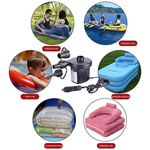 電動エアーポンプコンセントノズル空気入れ&抜き両対応家庭、車両用時短