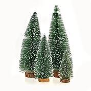 GEEDIAR 小型 クリスマスツリー ミニ 卓上 テーブル ツリー オーナメント クリスマス 飾り 松木 雪 (20)