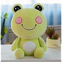 HuaQingPiJu-JP 25cm高さキッズおもちゃソフトぬいぐるみカエル人形ペンダントベビードールおもちゃミニドール女の子と男の子のための子供のためのホットギフト(グリーン)