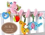 M&S ベビー ベッド メリー ボックス付 ジム 赤ちゃん かわいい ぞう ピンク 出産祝い プレゼント 新生児 ギフト