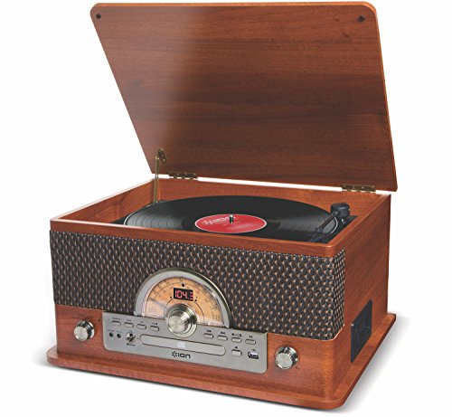 ION Audio レトロ調 ミュジックプレーヤー 7種再生【レコード、カセット、CD、ラジオ、USB、Bluetooth、外部入力】 Superior LP