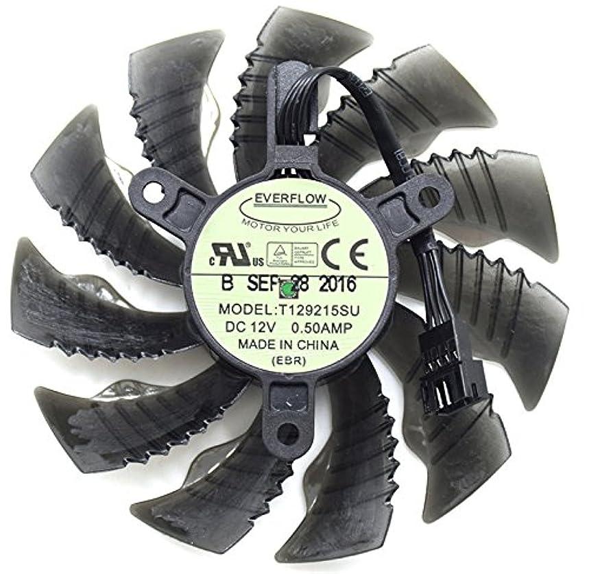 拍手するペダル濃度交換用ビデオカード冷却ファングラフィックスカードgtx960 GTX 970 GTX 1070ファンt129215su 12 V 0.5 A 87 mm 4ピン