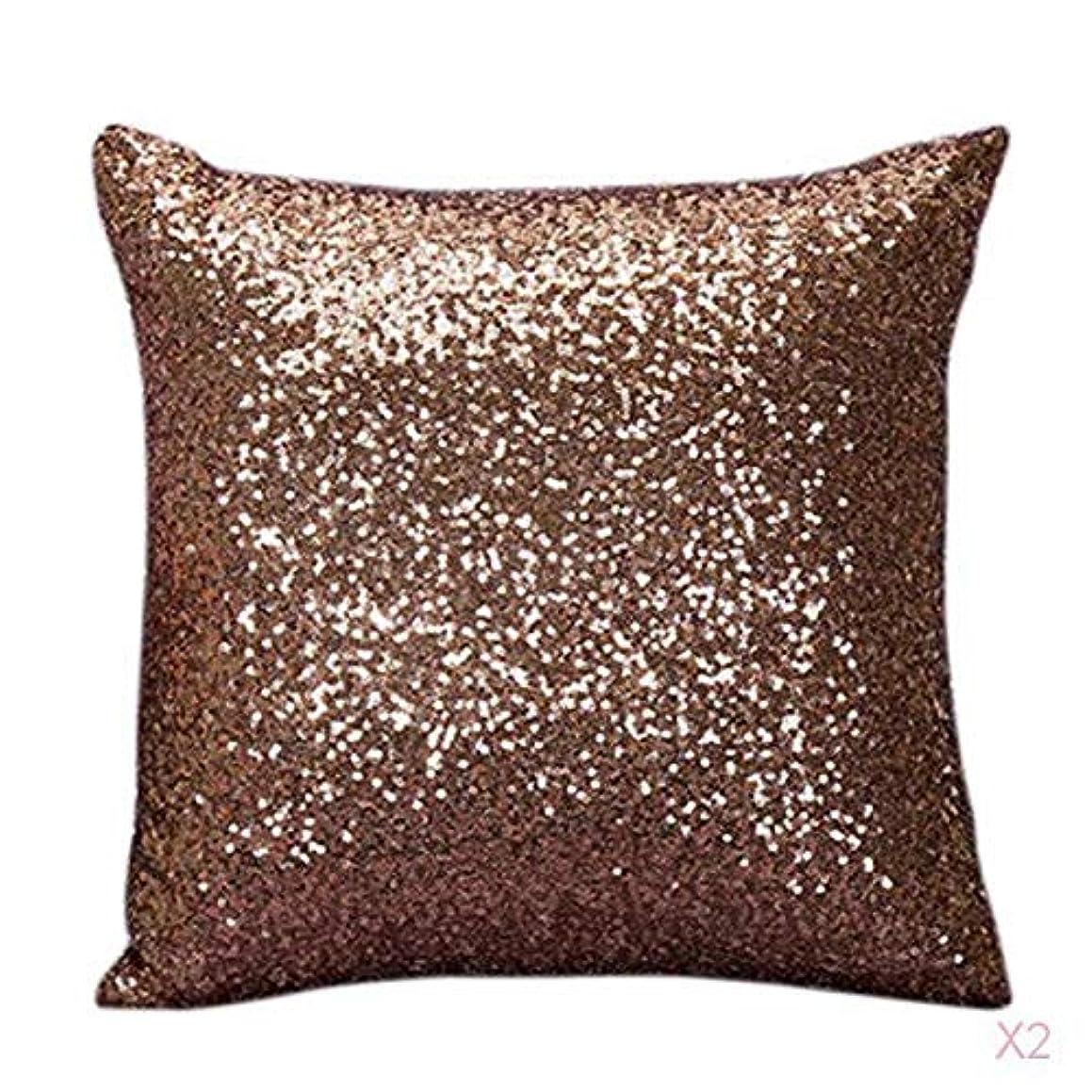 なめらかな赤外線望みファンシースパンコールソファスクエア枕クッションカバーケースは、ホームインテリアブラウンを投げ