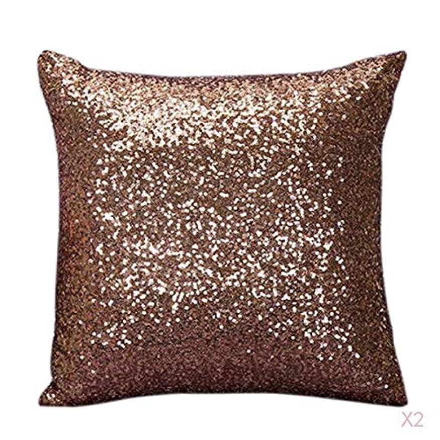 影響するダーベビルのテス代わりのファンシースパンコールソファスクエア枕クッションカバーケースは、ホームインテリアブラウンを投げ
