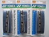 ヨネックスウェットスーパーツインWaveグリップac134ダークブルー( ac134db3F )のセット3