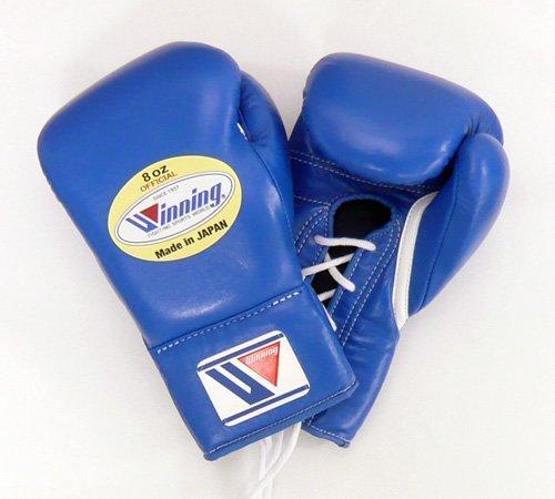 Winning 프로 경기 용 권투 글러브 8 온스 블루