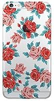 4種類のオシャレで可愛いパステルカラフルなバラの花柄ラブリークリアデザインパターンiPhone&Galaxy透明シリコンゼリーTPUスマホケース.BA-3-43 (Galaxy 8Plus, 1.RED) [並行輸入品]