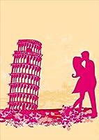 ポスター ウォールステッカー シール式ステッカー 飾り 203×254㎜ 六つ切り 写真 フォト 壁 インテリア おしゃれ 剥がせる wall sticker poster p2lwsxxxxx-006718-ds ラブリー 人物 ピンク