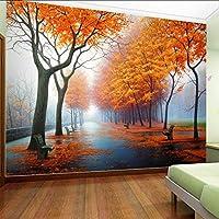 Lixiaoer カスタマイズされた写真の壁紙3 D秋のカエデの葉自然シーンの壁紙ロールリビングルームの寝室の家の装飾壁画壁紙-350X250Cm