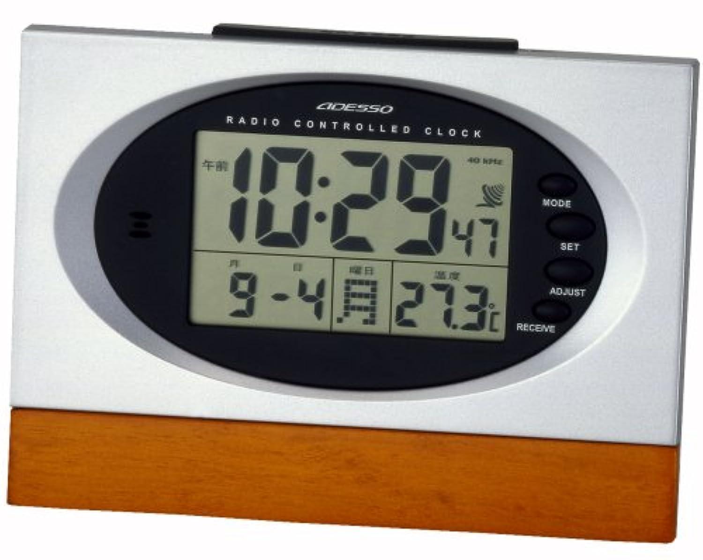 ADESSO (アデッソ) 置き時計 電波クロック C-8212