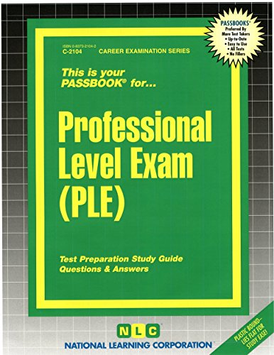 Download This is Your Passbook for... Professional Level Exam (PLE) 0837321042