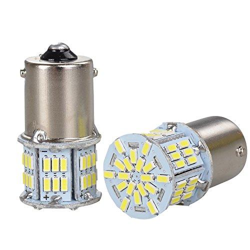 GOSMY 54LED 3014SMD(P21W 1156 S25 BA15S) 12-24V 1080LM ホワイト 6000-6500K 応用 LEDランプ 一年品質保証 2個入