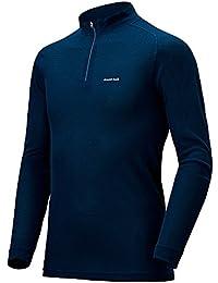 モンベル(mont-bell) ジオラインL.W.ハイネックシャツ Men's #1107488 (L IND インディゴ)