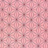 麻の葉文様 麻の葉柄 生地 ブロード 和柄 ピンク 桃色 NBK 生地 布 コスプレ 巾約112cm×8m切売カット IBK99078-2A-8M