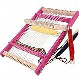 木製 メイキングトイ 手織り機 編み機 手織り 織機 ピンク DIY