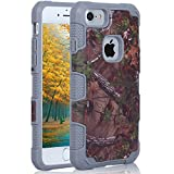 iphone 7 Military Tactics Case, AICOO Dual Layer Hybrid Shock Proof Anti-skidding Camouflage Stealth Phone Case Cover For iphone 7 4.7 inch - Grey