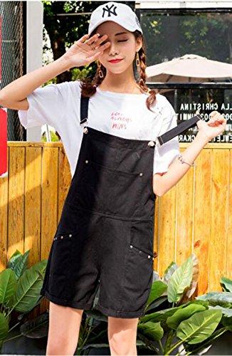 900ff5d219903f ... YiTong レディース ショートパンツ サロペット デニム 夏 パンツ 半分ズボン オーバーオール ジーンズ 大きいサイズ スリム 韓国  ...