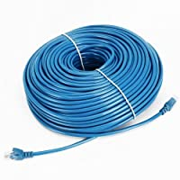 Cable N Wireless Blue 200FT CAT5 CAT5e RJ45 PATCH ETHERNET NETWORK CABLE For PC Mac Laptop PS2 PS3 XBox and XBox 360 to hook up on high speed internet from DSL or Cable internet. [並行輸入品]