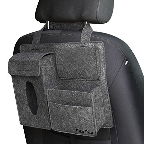 車用ティッシュカバー ティッシュボックス 車用収納ポケット 車載用 シートバックポケット ティッシュ...