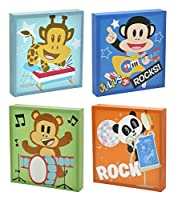 Saban Julius Jr. Square Canvas Wall Art (Set of 4)