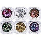 B Blesiya 混合色 ネイルアート装飾 化粧品 キラキラ スパンコール メイクアップ 飾り 6個