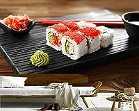 Lcsyp シーフード寿司ライスキャビア食べ物写真の壁紙、リビングルームダイニングルームキッチンレストランバー寿司屋壁画-200X150CM