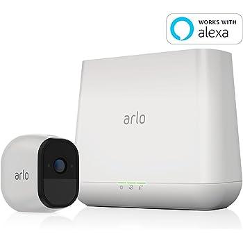 【Works with Alexa】 NETGEAR ネットワークカメラ ワイヤレス 見守り 簡単設置 どこからでも見れる Arlo Pro スターターキット カメラ1台セット VMS4130-100JPS