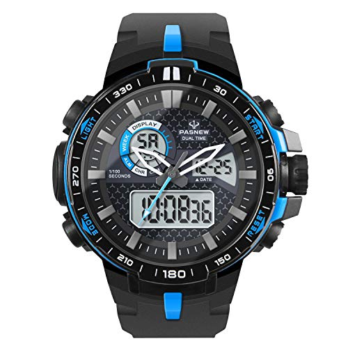 Hiwatch 腕時計 デュアルタイム メンズ腕時計アナデジ...