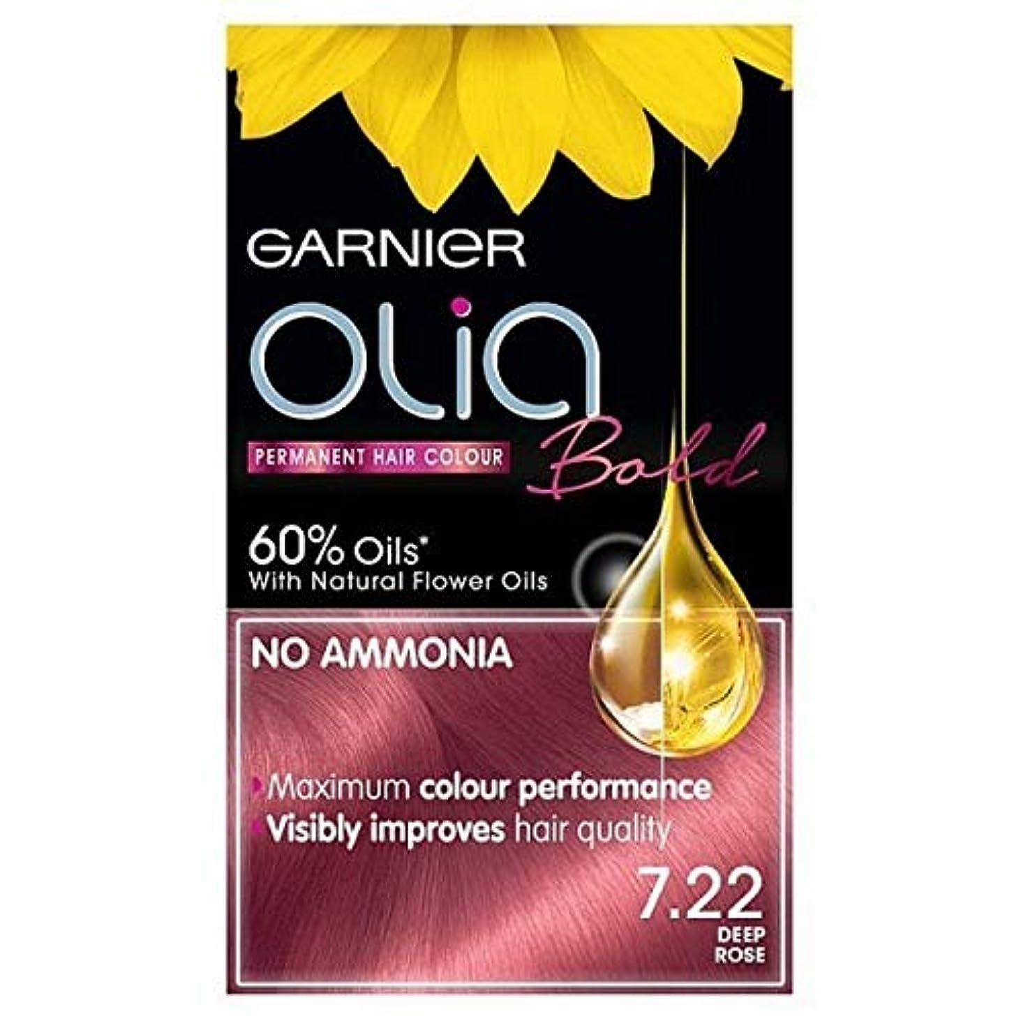 アマチュアブローなめる[Garnier ] ガルニエOlia大胆永久染毛剤には、深い7.22をバラ - Garnier Olia Bold Permanent Hair Dye Deep Rose 7.22 [並行輸入品]