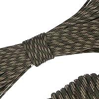 パラコード 4mm 31m 9芯 テント ロープ パラシュートコード ミルスペック 耐荷重 250kg(550LB) 定番 迷彩柄 登山用品 キャンプ サバイバル アウトドア タープ用